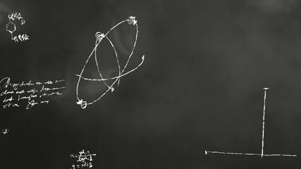 Math and Science Blackboard Scribbling