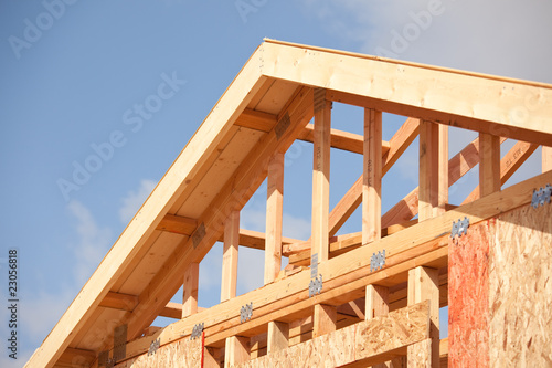 Abstract of Home Construction Site - Roof