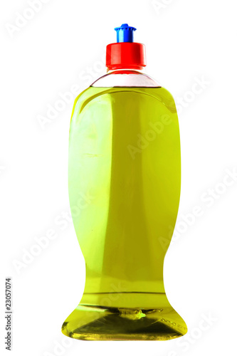 isolated clean soap bottle