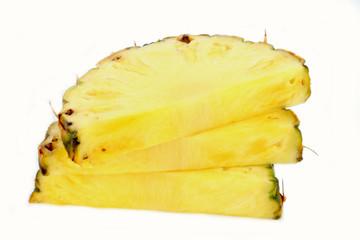 three slices of pineapple