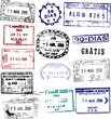 Vector passport stamps from the Americas