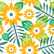 roleta: Floral seamless pattern