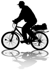 Grandfather on bicycle