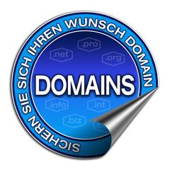 Aufkleber - Wunsch Domain (02)