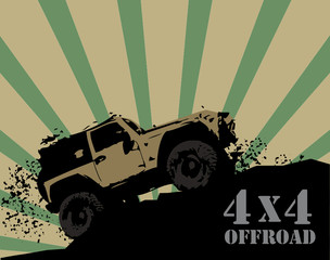 Off-road background, vector