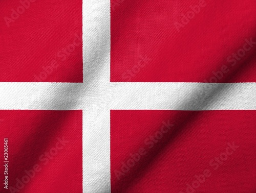 3D Flag of Denmark waving