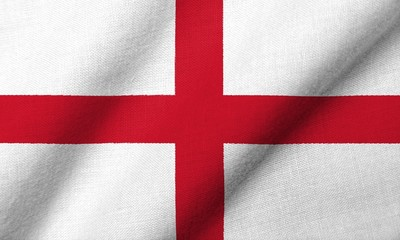 3D Flag of England waving