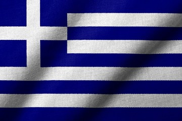 3D Flag of Greece waving