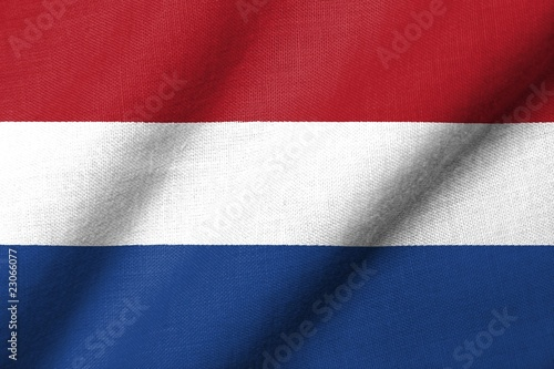 3D Flag of Netherlands waving