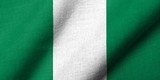 3D Flag of Nigeria waving
