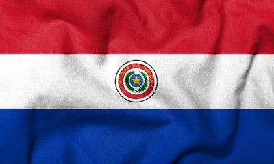 3D Flag of Paraguay