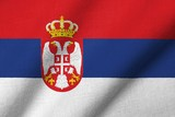 3D Flag of Serbia waving