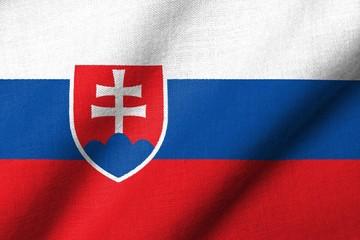 3D Flag of Slovakia waving
