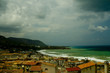 Céfalu beach in the summer