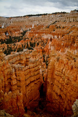 natural red rock pillars