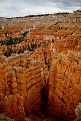 natural red rock pillars