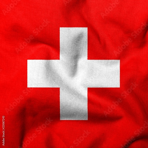 3D Flag of Switzerland