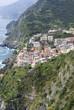 View of Riomaggiore, at the Cinque Terre in Italy