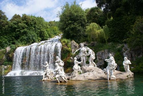 Leinwanddruck Bild Reggia di Caserta Grande Cascata