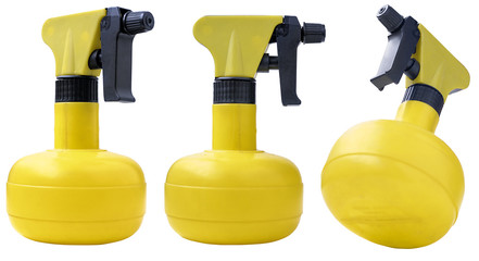 Three home water sprayers on a white background