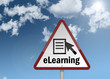 """Road Sign """"eLearning"""""""