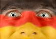 Deutscher Fan im Fußballfieber