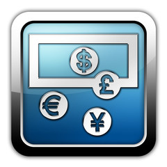 "Glossy Square Icon ""Money Exchange"""