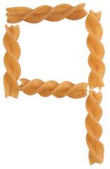italian pasta forming font symbol q