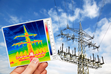 power pole and thermal imaging