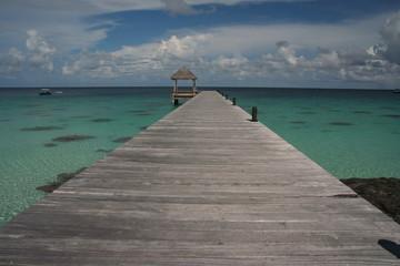 Polynésie-Fakarava-Ponton
