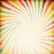 Retro colorful sunburst background.