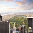canvas print picture New york manhattan at sunset - central park view