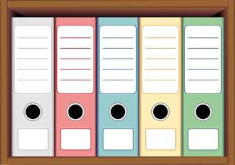 Raccoglitori e Cartelle da Ufficio-Office Folders-Vector