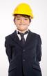 Happy boy with helmet