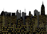 skyscrapers - metropolis - vector poster