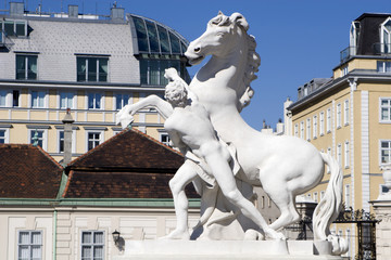 Vienna - statue from Belvedere palace