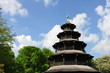 chinese tower in english garten in munich, germany