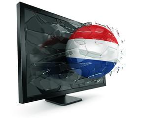 Ball through monitor