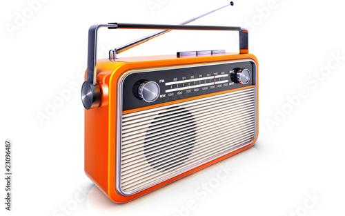Leinwanddruck Bild radio
