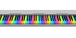 Rainbow synthesizer keyboard
