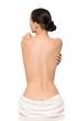 Schlanker Rücken einer Frau