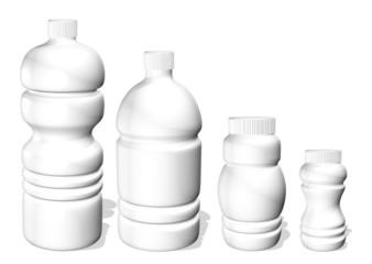 Bottiglie di Plastica Bianca-White Plastic Bottles