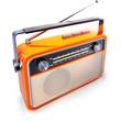 Leinwanddruck Bild - kofferradio