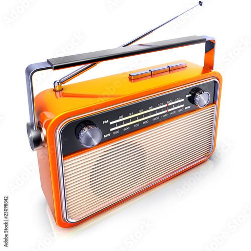 Leinwanddruck Bild kofferradio
