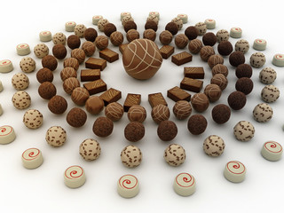 Cerchio di cioccolattini