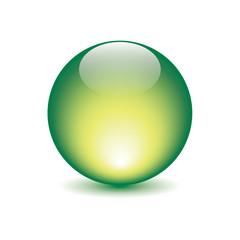 icona sfera luce verde