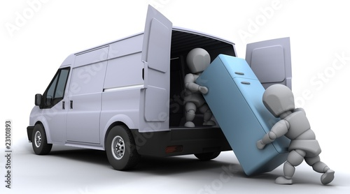 removal men loading a van