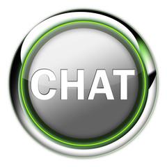 """Futuristic Button """"Chat"""""""