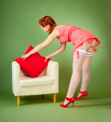 Pinup style girl