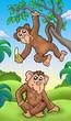 roleta: Two cartoon monkeys